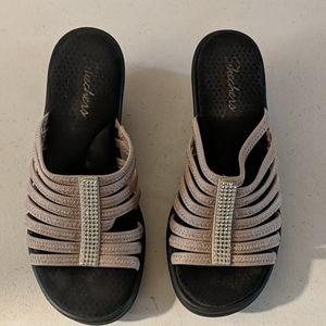Women's Skechers wedge sandals size 10